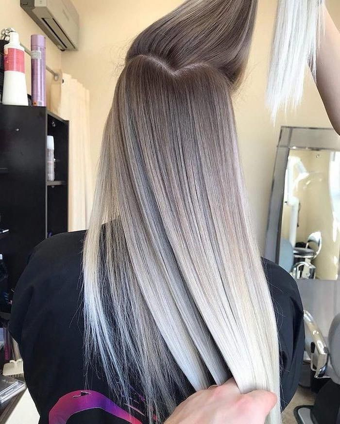 Dark Blonde To Platinum Blonde Pink Ombre Hair Long Straight Hair Longstraighthair Cada Vez Mas In 2020 Ombre Hair Blonde Ombre Hair Color Platinum Blonde Ombre