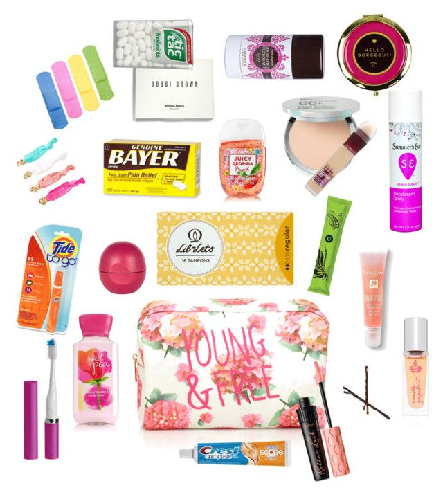 """Girl's Emergency Kit for School"" by simplyshelbie on Polyvore featuring beauty, Forever 21, River Island, It Cosmetics, Maybelline, Bobbi Brown Cosmetics, Lancôme, Lavanila, Goody and Violight"