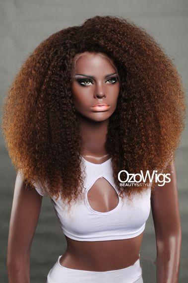 Human Hair Full Lace Wig Big Kinky Curly Kc006 Ozowigs