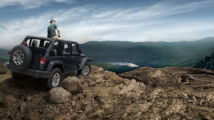 Jeep® Wrangler Unlimited Rubicon gives you tried-and-true freedom so you can begin with the end in mind.Be sure to follow all instructions in Owner's Manual for removal of top, doors and lowering of windshield. Driving with the doors off and windshield down is for off-road use only.