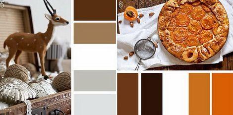 Белый с коричневым