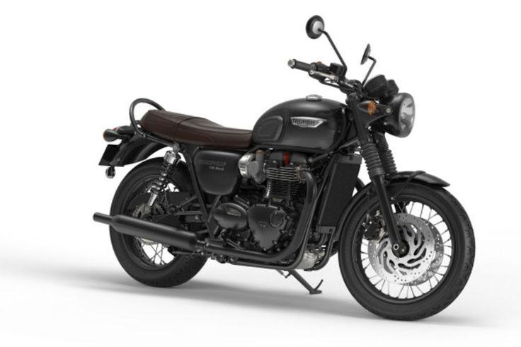 2016 Triumph Bonneville T120 Black studio 3/4 view