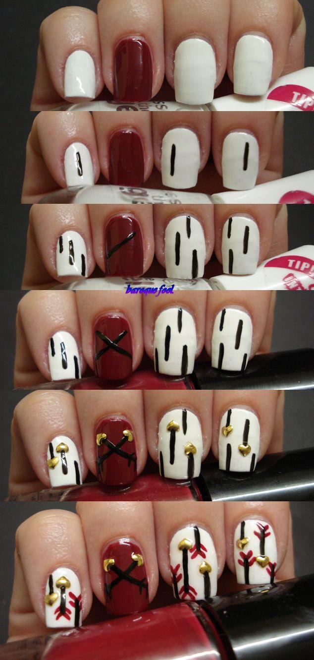 The 25 best arrow nails ideas on pinterest prom nails elegant baroque fool tutorial cupids arrows nail art prinsesfo Choice Image