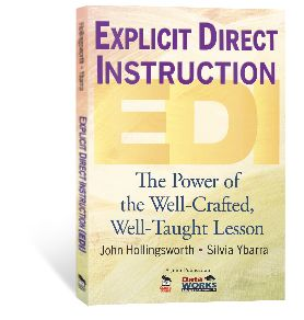 Explicit Direct Instruction: The Power of the Well-Crafted, Well-Taught Lesson was published in 2009, and since then authors John Hollingsworth and Dr. Silvia Ybarra have forged a path through the Common Core State Standards, visited hundreds more classrooms, and fine-tuned their EDI strategies. Now they are ready to share their new insights with the world!