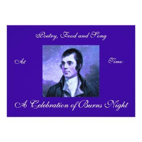 Burns Night Invitation #burnsnight #rabbieburns #cards or #postage