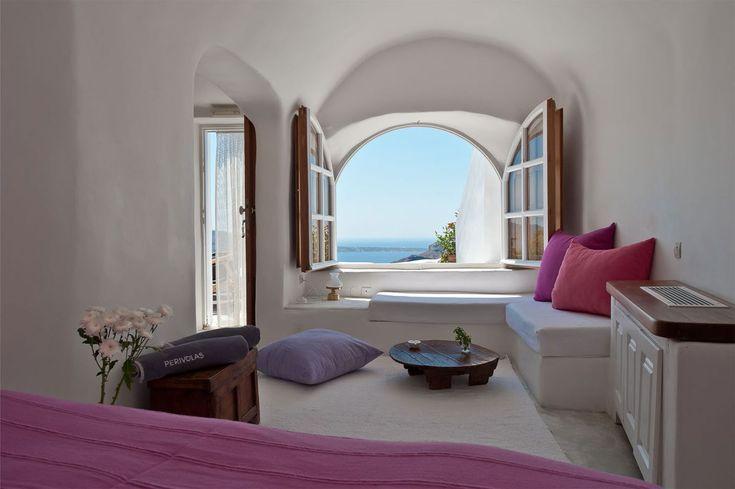 bedroom with a view | Perivolas Oia Santorini