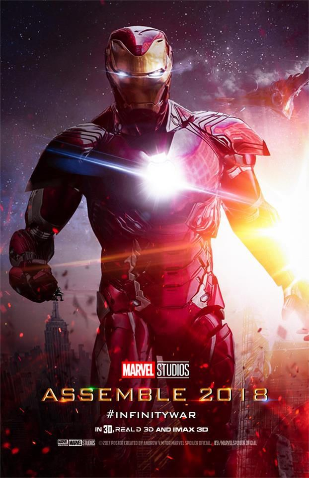 Avengers Infinity War Movie Poster Assemble 2018 Featuring Iron Man - DigitalEntertainmentReview.com