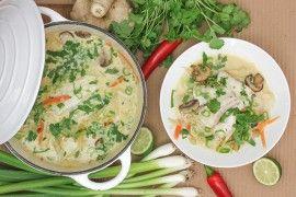 Fiskesuppe med kokosmelk & nudler