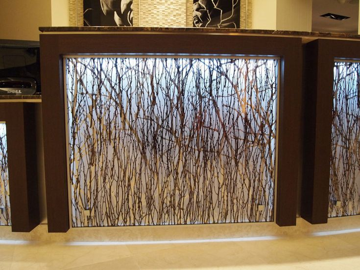 Backlit resin panel  Cafeteria Imagery  Backyard cottage Diy end tables Contemporary decor