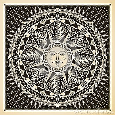 Sun Compass by Yewkeo, via Dreamstime