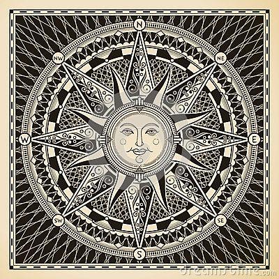 Sun Compass by Yewkeo, via Dreamstime