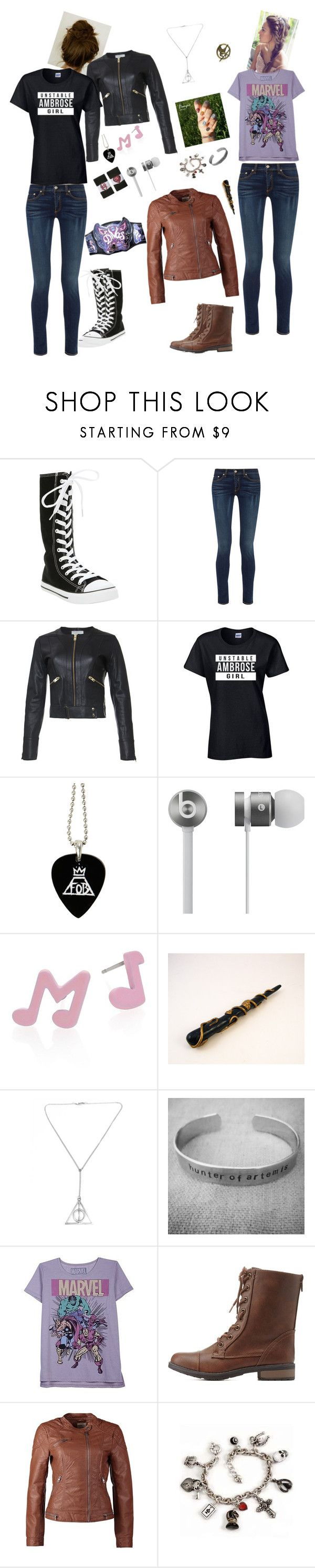 """""""Fandom Outfits"""" by booknerd03 ❤ liked on Polyvore featuring Hot Topic, rag & bone, IRO, Beats by Dr. Dre, Marc by Marc Jacobs, WWE, Stele, Awake, Charlotte Russe and ONLY"""