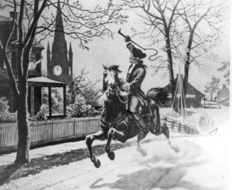 Paul Revere was a famous colonial figure whos job was to warn the colonial army when the British were coming. When he saw the flashes of a lantern from the church in his town he would know which way the British were coming from.