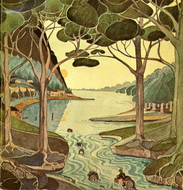 J.R. Tolkien Paperback Illustration: The Lord, Raft Elves, Barrels, Hobbit Illustrations, The Hobbit, Middle Earth, Tolkien Illustrations, Covers Art, Jrr Tolkien