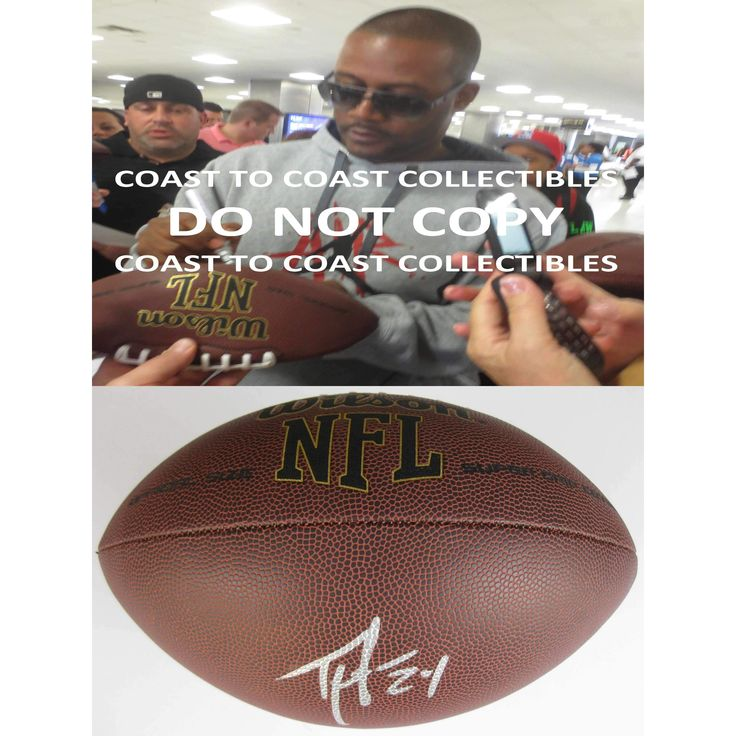 Ty Law, New England Patriots, Michigan Wolverines, Signed, Autographed, NFL Football, a COA with the Proof Photo of Ty Signing Will Be Included with the Football