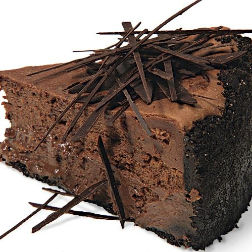 Extreme Chocolate Cheesecake - You can't get more chocolate than this cheesecake: a chocolate-wafer crust, melted dark chocolate in the filling, and chocolate shards scattered over the top.