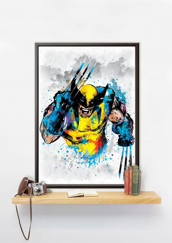 This Wolverine poster printed on Mimaki JV150 Series: affordable, high performance photo printer. Print resolution is 1440 DPI. You will get a photo quality picture produced with eco-solvent ink, which is long lasting and makes the colors look great.  ✐You can choose the material for you