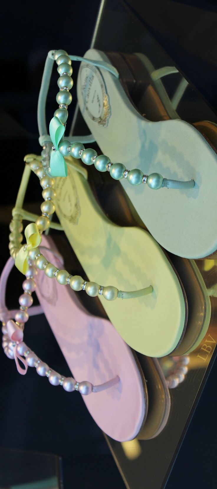 ~Rene Caovilla Pastel Pearl Sandals | The House of Beccaria
