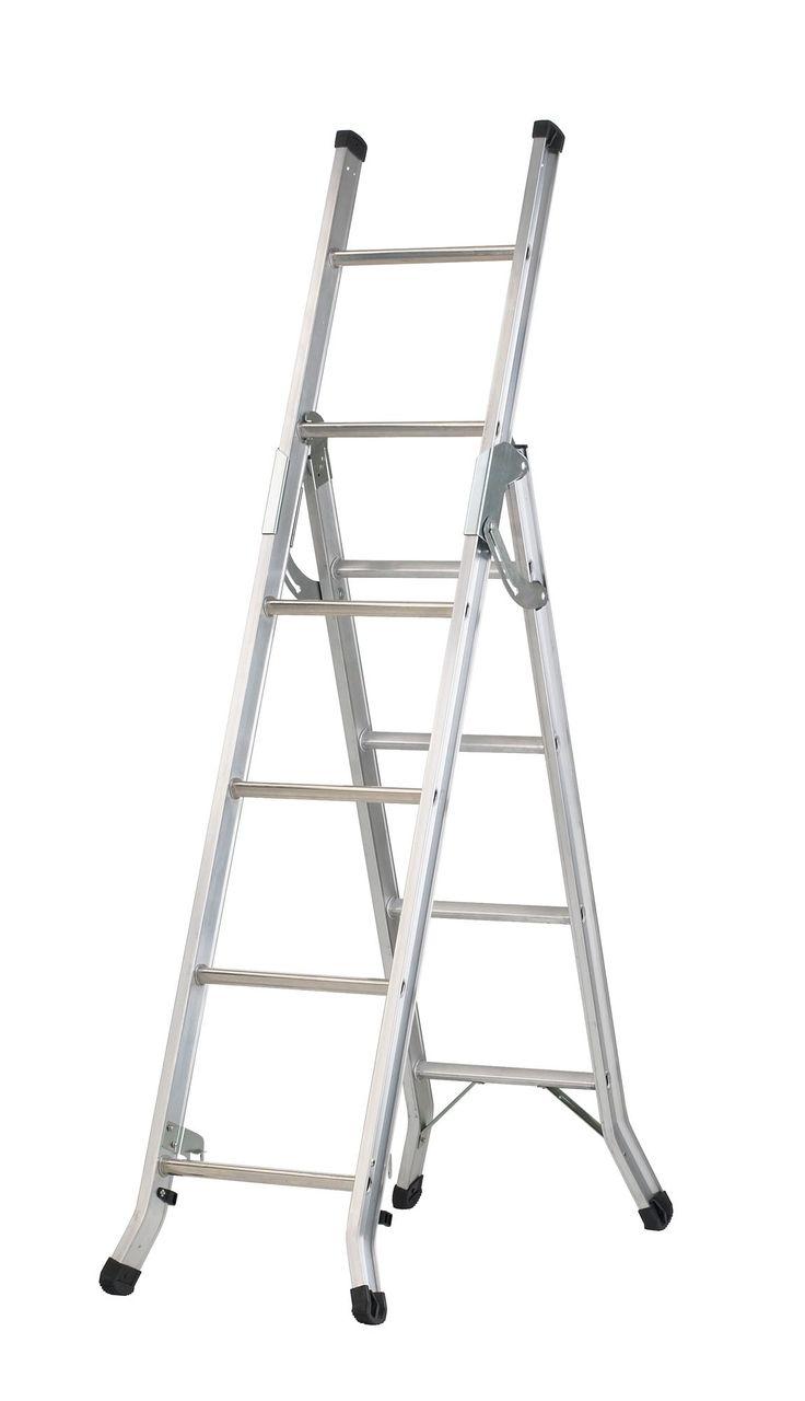 Abru Aluminium 3-Way Combination Ladder (H) 2.74 M   Departments   DIY at B&Q