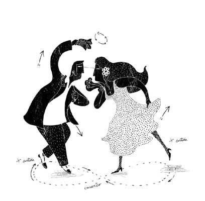 """Las ilustraciones de Alberto Montt están compiladas en el libro """"Piernal de cueca chora"""", de Araucaria Rojas (Quilombo Ediciones)."""