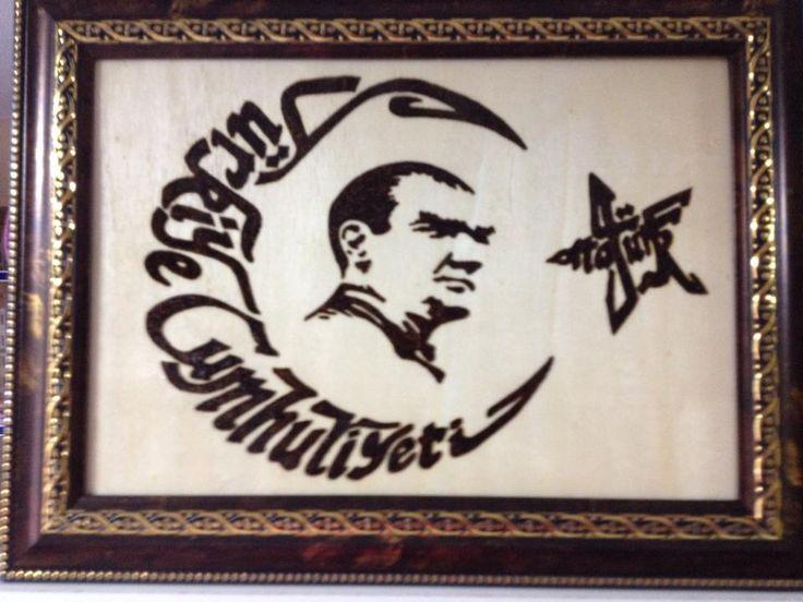 ahşap yakma T.c Atatürk