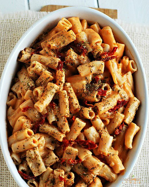 Rigatoni with Sundried Tomato Pesto (Gluten Free, Vegan)