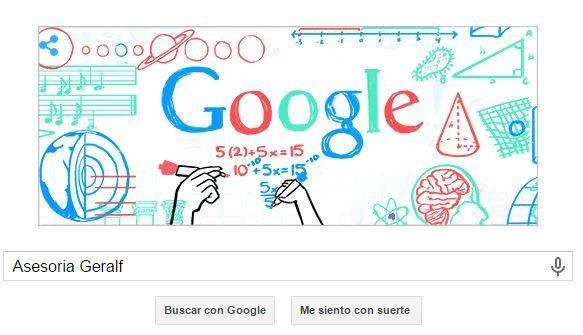 Google dedica su doodle en honor a todos los maestros del Perú en su fecha especial, el Día del Maestro, celebrado el 6 de julio.  Es por ello que Google celebra dicha fecha especial con un divertido doodle de sumas, restas, multiplicación y división.