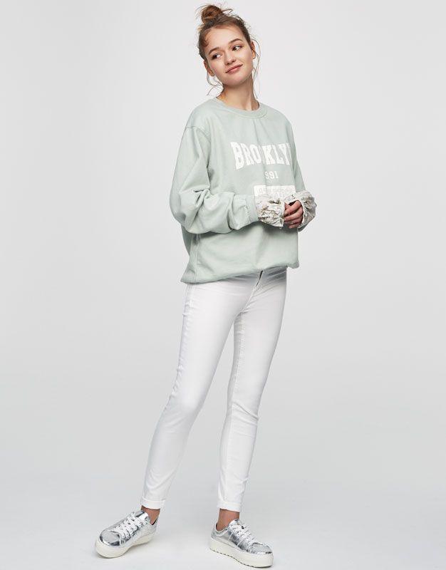 Brooklyn slogan sweatshirt - Teen Girls Collection - Woman - PULL&BEAR United Kingdom