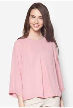 Box Pleat Raglan Top from Zalia in pink_1