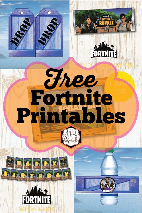 Free Fortnite Party Printables Birthday Party For Teens