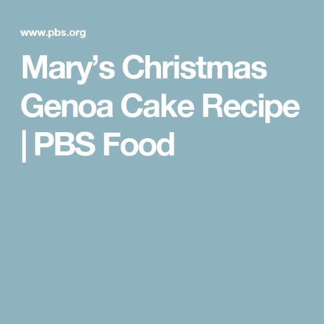 Best Genoa Cake Recipe