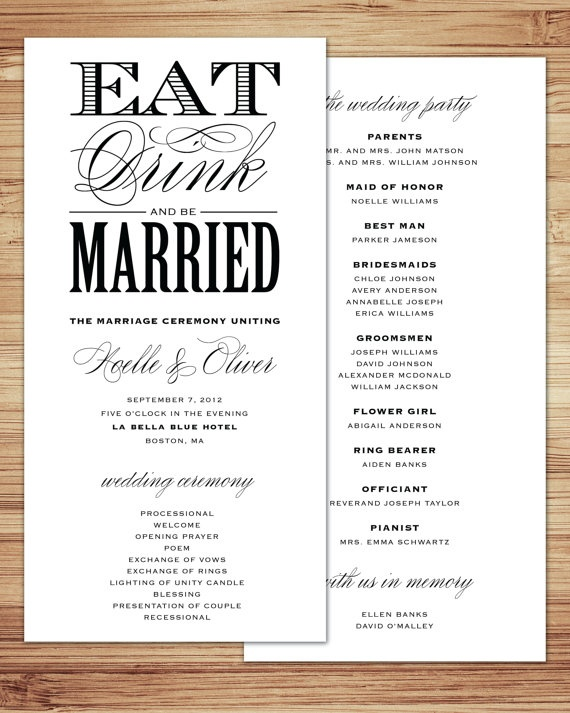 201 best Wedding Program Ideas images on Pinterest | Wedding stuff ...