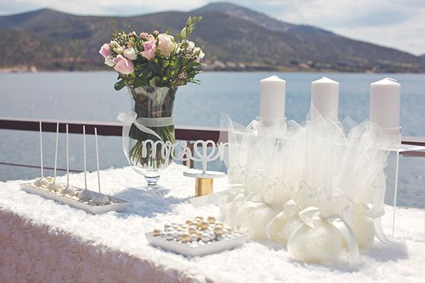 Wedding overlooking the sea at the Athens Riviera by www.StyleConcept.gr   ροζ-ανθοστολισμος-γαμου