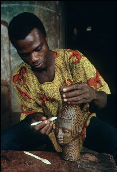Lagos, Nigeria....boy making art from his own Country Africa...love it