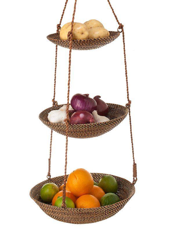 Shirley 3 Tier Hanging Basket Hanging Fruit Baskets Hanging Basket Storage Hanging Baskets