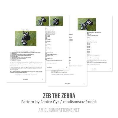 37 best zebrascrochet images on pinterest amigurumi patterns zeb the zebra amigurumi pattern by janice cyr madisonscraftnook dt1010fo