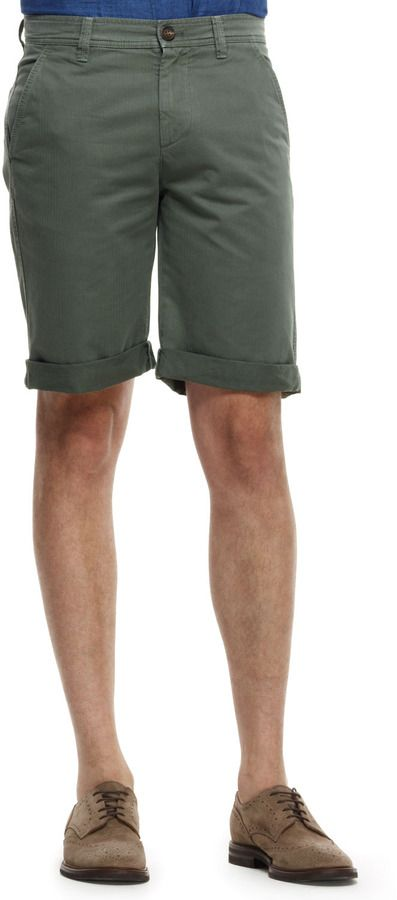 $545, Olive Shorts: Brunello Cucinelli Micro Houndstooth Bermuda Shorts Green. Sold by Neiman Marcus. Click for more info: https://lookastic.com/men/shop_items/11517/redirect