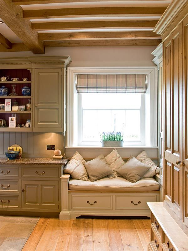 Cosy reading seat in the kitchen.