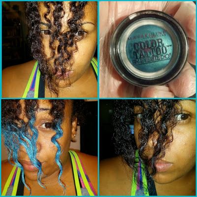 Gotta try the (wash-out) blue streaks this summer! Two Ways to Do Safe, Wash-Out Hair Color   Black Girl with Long Hair