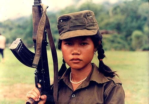 Vietnam War Weapons - Child soldier, one of the saddest things to take an innocent child to do such horrible acts. About 40% of all child soldiers are female.