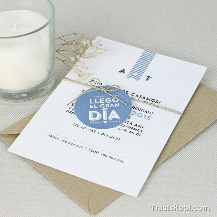 """Invitación de boda - """"ELEGANTE"""""""