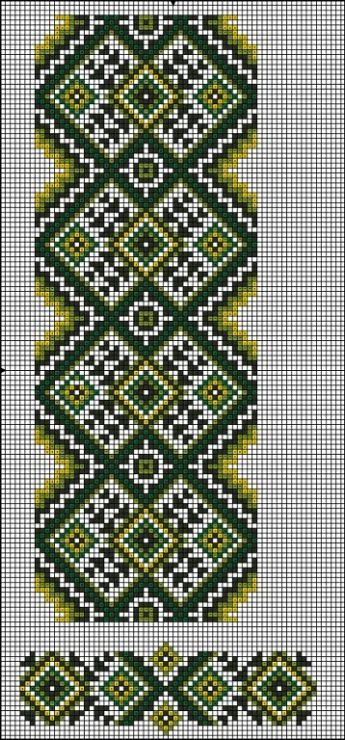 Gallery.ru / Фото #120 - схемы для вышиванок - zhivushaya