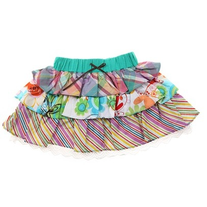 j.Aqua/Wh/Purple Frilly Skirt-AJ536256-Aqua-White-Purple $12.00 on Ozsale.com.au