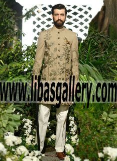 Buy Groom sherwani online at low Budget prices from Designer Elan. We offers best and wide collection of Top designer Elan, wedding, groom, Wedding festival shewanis for men in latest Embroidered styles and fabrics. Express delivery worldwide.The Best of Groom Wear in #UK #USA #Canada #Australia #Saudi #Arabia #Bahrain #Kuwait #Norway #Sweden #NewZealand #Austria #Switzerland #Germany #Denmark #France #Ireland #Mauritius and #Netherlands Groom Sherwani free shipping www.libasgallery.com