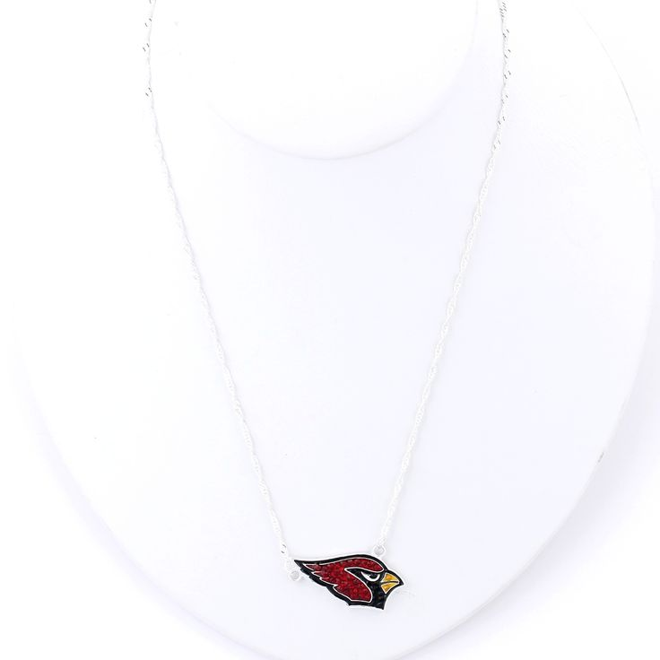 Arizona Cardinals Crystal Logo Necklace