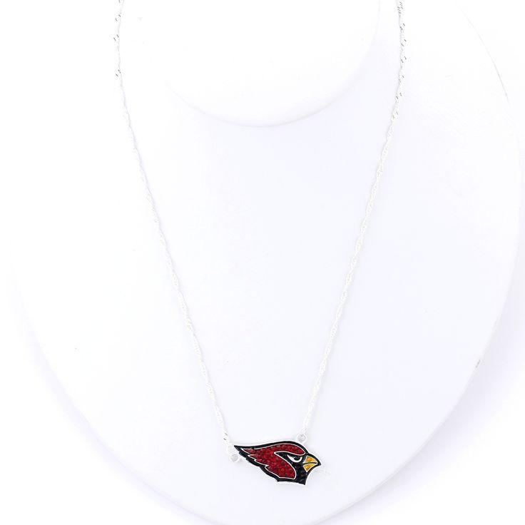 Arizona Cardinals Crystal Logo Necklace