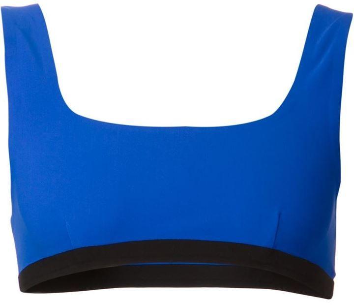 €88, Top de Bikini Azul de Alexander Wang. De farfetch.com. Detalles: https://lookastic.com/women/shop_items/212740/redirect