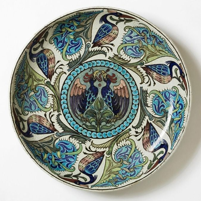 Large circular dish by Milliam de Morgan.