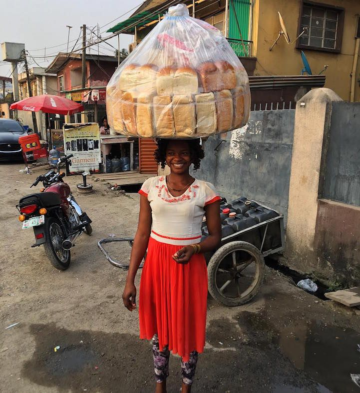 """Many people fantasize about being """"discovered"""" in the street, even though it's highly unlikely to happen. For a Nigerian woman selling bread on the street,"""