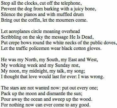 Poems And Source The 25 Best Funeral Blues Ideas On Pinterest Wh Auden